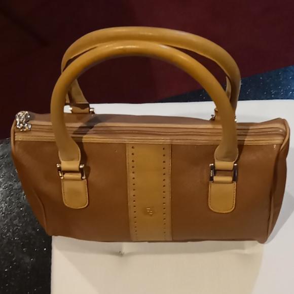 Fendi Handbags - Fendi Vintage Small Leather Trim Handbag